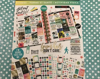 Create 365/The Happy Planner sticker book- Fitness set- 1,475 pieces NEW