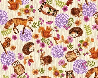Enchanted by Studio E - Characters Allover Cream - Cotton Woven Fabric
