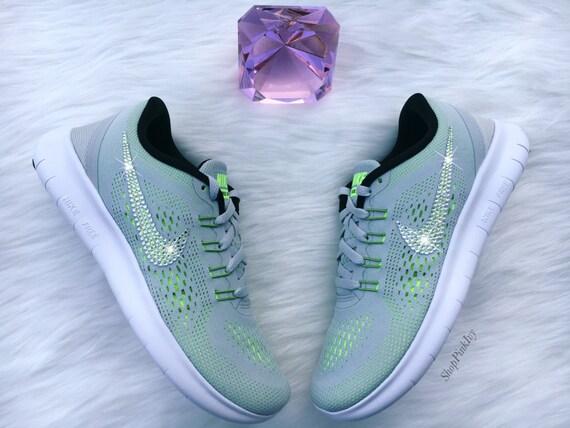 82641a528dc96 cheap 2016 Swarovski Nike Free RN Running Shoes by ShopPinkIvy on Etsy