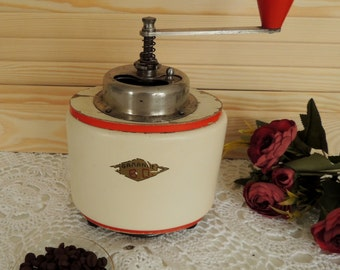 Vintage Coffee Grinder Garantie, Rare Coffee Mill, Vintage Shabby Chic Kitchen Country Home Rustic Decor Decoration Ornament, Collectibles