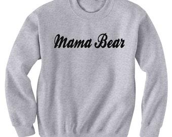 Mama Bear Sweatshirt Black or Gray Pinterest Instagram