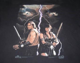 XENA and HERCULES 90s SHIRT - sz xxl - warrior princess vintage 90s tee