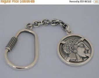For Sale Goddess Athena & Owl of Wisdom Silver Keychain - Athens Tetradrachm
