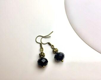 """Earrings bronze """"Black Stars"""""""