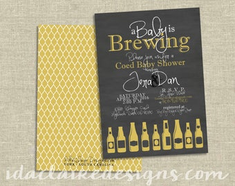 Baby Shower Invitation Digital Download | A Baby Is Brewing