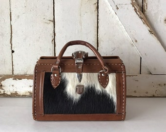 Black & White Cowhide Leather Purse