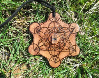 Ready to Ship OOAK Metatrons Cube Necklace