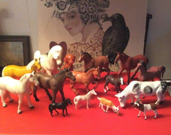 Vintage Toy Horses/Vintage Farm Animals/Briton's Ltd., England Toys/Funrise Horses/Collectible Toys/1970's, 80's Toy Animals/Plastic Toys