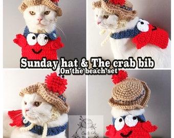 Sunday hat and the crab bib