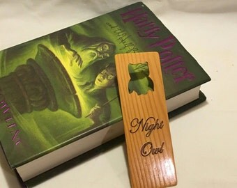 Wooden Night Owl Book Mark