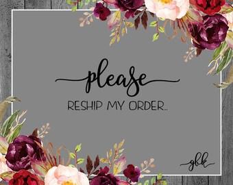 Reship My Order