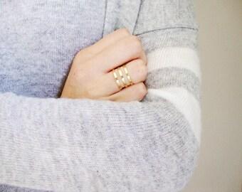 Ring adjustable gold rush 3 Golden brass rings