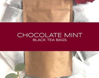 Chocolate Mint Black Tea Bags
