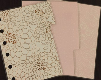Small Kikki K Pocket Sized Filofax Dividers Set of 3