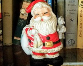 Vintage HOMCO Santa Bank Pristine Condition - Great for Gift!