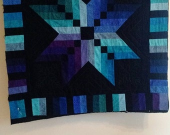 Black Star Quilted Wallhanging