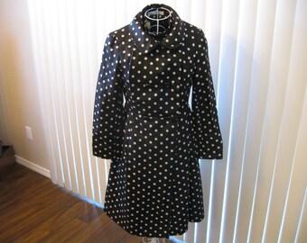 Dress and Coat Set Mr Z San Francisco Black and White Polka Dot 1960s