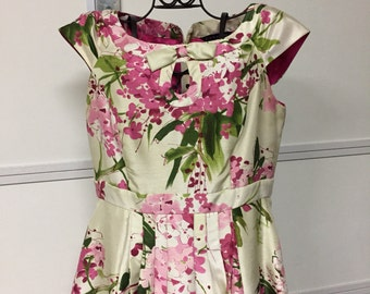Pink Floral Dress by Robbie Bee, size 8