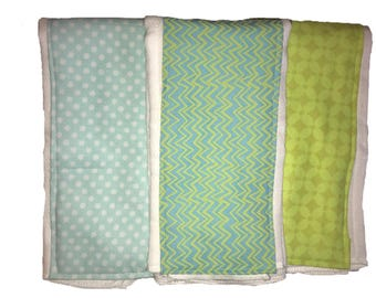 Grayson Burp Rag Trio, burp cloth, cloth diaper burp rag
