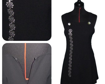 "Dress - ""the little black flower"" - T36 until T38"