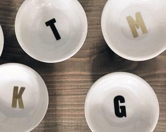 Monogram Ring Dish - Tiny