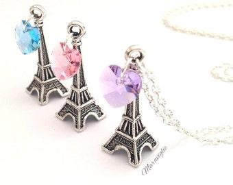 Eiffel Tower Necklace, Paris Necklace, Eiffel Charm Necklace, Paris Jewelry, Eiffel Tower Pendant