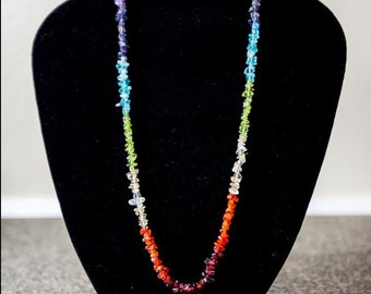 Chakra Necklace/ 7 Chakra Necklace/Chakra Gemstone Jewelry