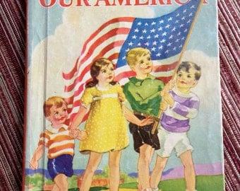 Patriotic Child Book,Retro Child Book,America Storybook,40 Child Book,Child Picture Book,Child Picturebook,America Child Book,USA Child Book