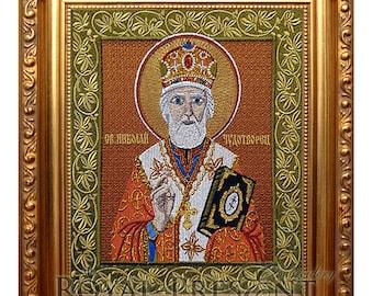 Machine Embroidery Design Icon of St. Nicholas the Wonderworker