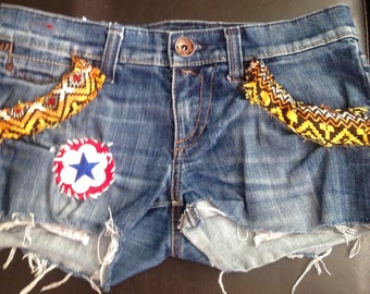 Upcycled Jean shorts