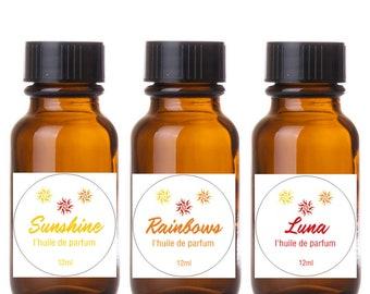 InLa'Kesh Aromatics: Sparkles Perfume Oil Set Sunshine, Rainbows and Luna