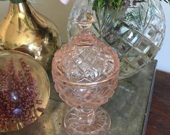 Adorable small glass jar