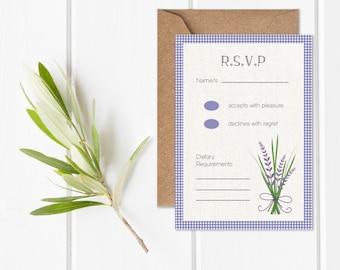 Lavender Lane RSVP Card