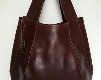 Jessica Large Chestnut Leather