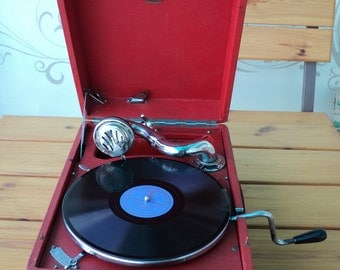 Gramophone USSR. Molotov, turntable, 78rpm records, music device, the Soviet gramophone. Rare.