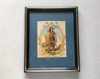 Red Cloud Chewing Tobacco Native American Indian Ad Framed