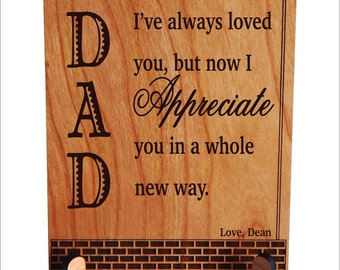 Fathers Day Gift, Custom Gift to my dear Father, Daughter to Dad Gift, Dad Appreciation Gift, Son to Dad Gift, Thank You Dad Gift, PDL034