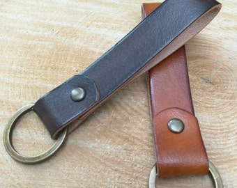 Leather keyring - handmade in Britain