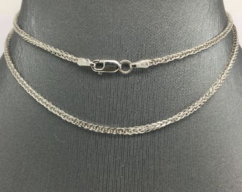 14K White Gold Foxtail Chain ~1.50mm