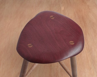 Mid Century Modern Wood Stool Wooden Stool Bar Stool Kitchen Counter Barstool & Guitar stool | Etsy islam-shia.org