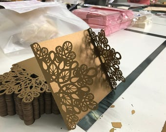 CUSTOM Laser Cut Wedding Invitation FOLDER  EXPRESS  Production