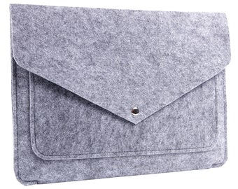 Handmade Macbook and Laptop Sleeve Case - Macbook Air and Pro Felt Case - Sleeve Case Cover for Apple Macbook