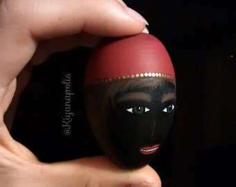 Haji Firooz, Hand Painted Wooden Egg, Persian, Norooz egg, Persian New Year, Haft seen, Nowruz, Persian Egg, haft sin, made in Canada