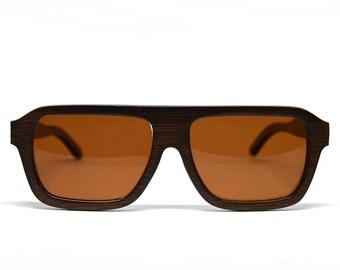 Brown Bamboo Sunglasses Aviator Sunglasses Wood Sunglasses Brown Lenses Polarized Sunglasses Wood Glasses Wooden Sunglasses Mens Womens