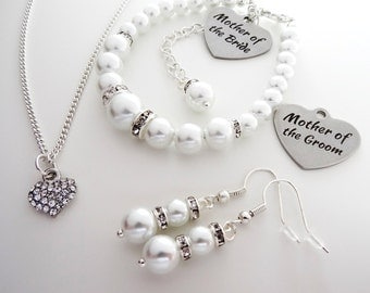 Wedding Set ( 1D/3/1) Mother of the Bride gift, Mother of the groom gift, mother of the bride jewelry set, mother of the groom jewelry set