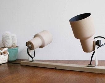 Beige vintage Wall lamp of Herda. Retro design spots, Dutch Design