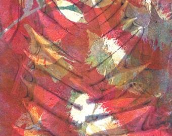 red fern print