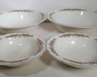 Set of 4 Lido W.S. George White made in the U.S.A. Bowls
