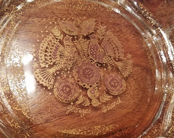 Gorgeous Georges Briard Scalloped  Bowl 8""