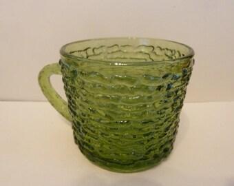 Anchor Hocking, Green Serano Cup w/handle